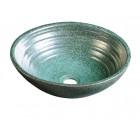 ATTILA keramické umyvadlo, průměr 46cm, zelená měď                               ( DK016 )