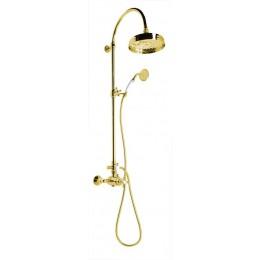ANTEA sprchový sloup s termostatickou baterií, zlato