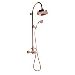 ANTEA sprchový sloup s termostatickou baterií, růžové zlato