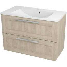 Sapho AMIA umyvadlová skříňka 89x60x43,5cm, dub šedý