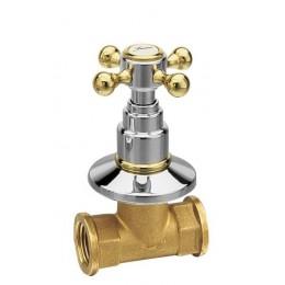 ANTEA podomítkový ventil, teplá, chrom/zlato