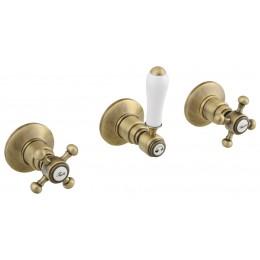 ANTEA podomítková sprchová baterie, 2 výstupy, bronz