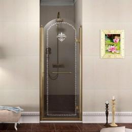 ANTIQUE sprchové dveře 900mm, pravé, čiré sklo, bronz