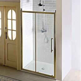 ANTIQUE sprchové dveře, posuvné,1200mm, ČIRÉ sklo, bronz