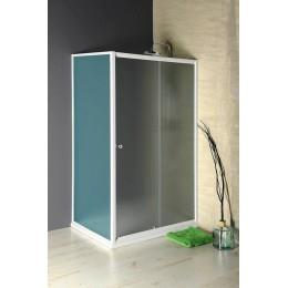 AMADEO posuvné sprchové dveře 1000 mm, sklo BRICK