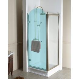ANTIQUE boční stěna 800mm, ČIRÉ sklo, bronz