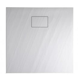 Sapho ACORA vanička z litého mramoru, čtverec 80x80x3,5cm, bílá, dekor kámen