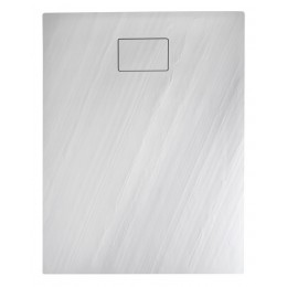 Sapho ACORA vanička z litého mramoru, obdélník 100x80x3,5cm, bílá, dekor kámen