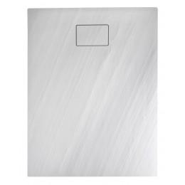 Sapho ACORA vanička z litého mramoru, obdélník 120x80x3,5cm, bílá, dekor kámen