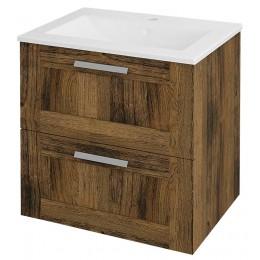Sapho AMIA umyvadlová skříňka 59x60x45cm, dub Collingwood