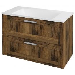 Sapho AMIA umyvadlová skříňka 89x60x45cm, dub Collingwood