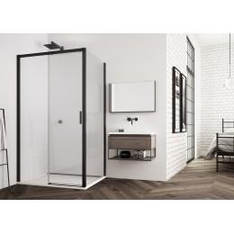 TOP-LINE S Sprchový kout s posuvnými dveřmi, 120x80cm černá, čiré sklo