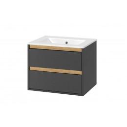 Umyvadlová skříňka TUTO 60cm - grafit/dub